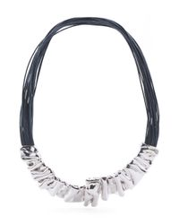 Tj Maxx - Blue Made In Israel Sterling Silver Collar Navy Cord Necklace - Lyst