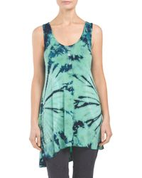 Tj Maxx - Blue Made In Usa Tie Dye Henley Tank - Lyst