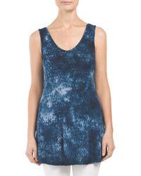 Tj Maxx - Blue Made In Usa Python Printed Tie Dye Tank - Lyst