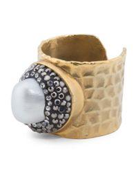 Tj Maxx - Multicolor Turkish Stone Hammered Adjustable Ring - Lyst