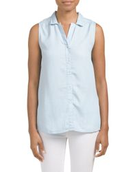 Tj Maxx - Blue Tencel Crossover Back Tunic - Lyst