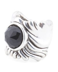 Tj Maxx - Multicolor Made In Israel Sterling Silver Textured Stone Ring - Lyst