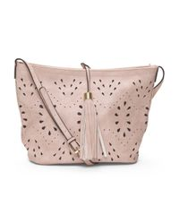 Tj Maxx - Pink Laser Cut Bucket Bag With Tassel - Lyst