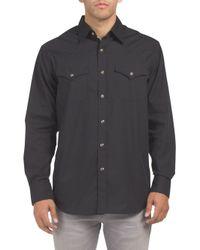 Tj Maxx - Black Long Sleeve Button Down Frontier Shirt for Men - Lyst