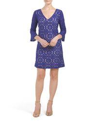 Tj Maxx - Blue All Over Lace Dress - Lyst