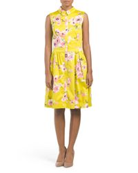 Tj Maxx - Yellow Printed Shirt Dress - Lyst