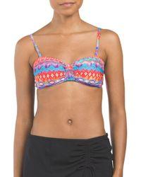 Tj Maxx - Blue Bandeau Printed Bikini Top - Lyst