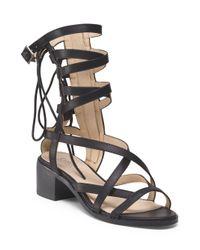 Tj Maxx - Black Chunky Heel Strappy Sandal - Lyst