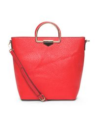 Tj Maxx - Red North South Tote With Gold Handles - Lyst