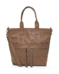 Tj Maxx - Brown Satchel With Front Zipper Pockets - Lyst