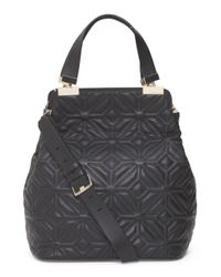 Tj Maxx - Black Leather Modern Muse Quilted Tote - Lyst