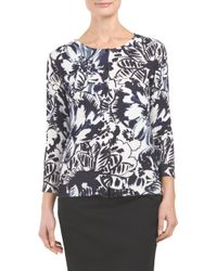 Tj Maxx - Blue Three Quarter Sleeve Cardigan - Lyst