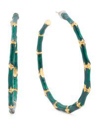 Tj Maxx - Multicolor Made In Usa Enamel Bamboo Hoop Earrings - Lyst