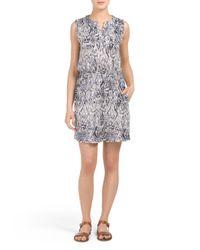 Tj Maxx - Gray Ikat Haze Dress - Lyst