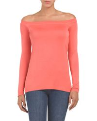 Tj Maxx - Pink Made In Usa Off The Shoulder Top - Lyst