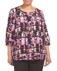 Tj Maxx - Pink Plus Rhapsody Printed Top - Lyst