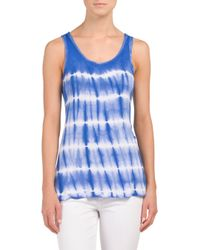 Tj Maxx - Blue Sleeveless Scoop Neck Tank - Lyst