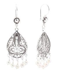 Tj Maxx - Metallic Handcrafted In Turkey Sterling Silver Pearl Earrings - Lyst