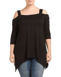 Tj Maxx - Black Plus Made In Usa Cold Shoulder Top - Lyst