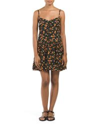 Tj Maxx - Black Floral Print Short Dress - Lyst
