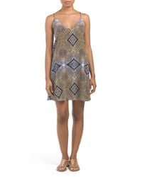 Tj Maxx - Multicolor Silk Lace Up Back Jena Dress - Lyst