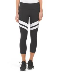 Tj Maxx - Black Colorblock Capri - Lyst