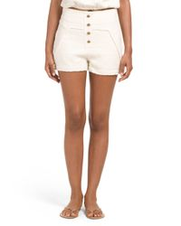 Tj Maxx - White Button Front Short - Lyst