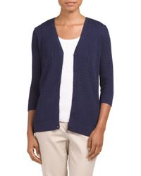 Tj Maxx - Blue Baby Cable V Neck Sweater Cardigan - Lyst