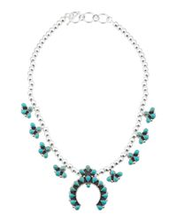 Tj Maxx - Blue Handcrafted In Mexico Sterling Silver Squash Blossom Necklace - Lyst