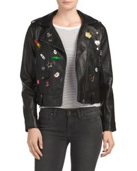 Tj Maxx - Black Pinned Embroidered Patch Jacket - Lyst