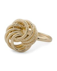 Tj Maxx - Metallic Made In Italy 14k Gold Large Love Knot Ring - Lyst