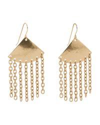 Tj Maxx - Metallic Made In Usa Triangle Fringe Earrings - Lyst