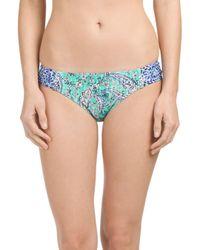 Tj Maxx - Blue Ruched Side Bikini Bottom - Lyst