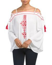 Tj Maxx | Multicolor Off The Shoulder Lace Up Top | Lyst