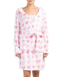Tj Maxx - Pink Painted Hearts Robe - Lyst