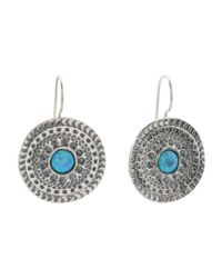 Tj Maxx - Blue Made In Israel Sterling Silver Opal Medallion Earrings - Lyst