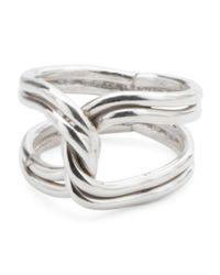 Tj Maxx - Metallic Handmade In Mexico Sterling Silver Interlocking Ring - Lyst