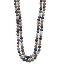 Tj Maxx | Blue Dyed Multicolor Agate Endless Necklace | Lyst