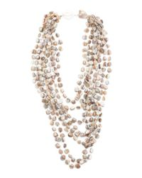 Tj Maxx - Natural 8 Row Pearl Necklace - Lyst