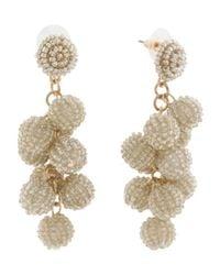 Tj Maxx - Metallic Handmade Beaded Cluster Ball Earrings - Lyst
