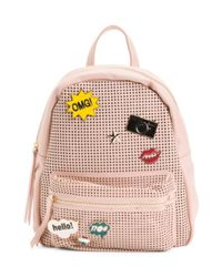 Tj Maxx - Pink Perforated Backpack With Pins - Lyst