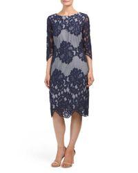 Tj Maxx - Blue Elbow Sleeve Lace Dress - Lyst