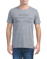 Tj Maxx - Black Made In Usa Monday Heather Tee for Men - Lyst
