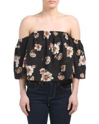 Tj Maxx - Black Off The Shoulder Floral Top - Lyst