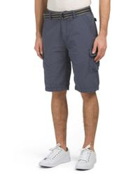 Tj Maxx - Blue Belted Cargo Shorts for Men - Lyst