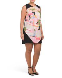 Tj Maxx - Pink Plus Printed Shift Dress - Lyst
