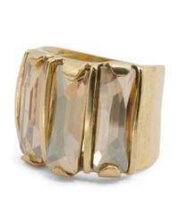 Tj Maxx - Metallic Made In Israel 14k Gold Plated Silver Crystal Golden Shadow Ring - Lyst