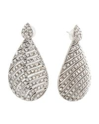Tj Maxx - Metallic Made In Israel Sterling Silver Dotted Lines Earrings - Lyst