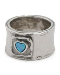 Tj Maxx - Metallic Made In Israel Sterling Silver And Opal Heart Ring - Lyst