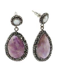 Tj Maxx - Multicolor Semi Precious Stone And Pearl Earrings - Lyst